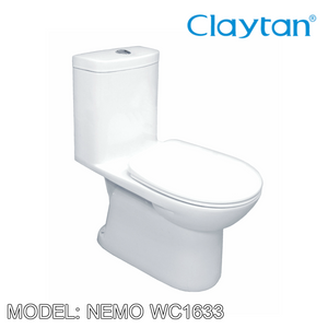 CLAYTAN Nemo One Piece Pan WC1633, Bathroom W.Cs, CLAYTAN - Topware Solutions
