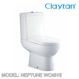 CLAYTAN Neptune Close Couple Pan WC4515, Bathroom W.Cs, CLAYTAN - Topware Solutions