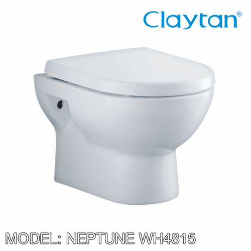 CLAYTAN Neptune Wall Hung Pan WH4815, Bathroom W.Cs, CLAYTAN - Topware Solutions