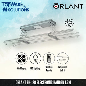 ORLANT EH-128 Electronic Hanger Fully Aluminium, Clothes Hangers, FANSKI - Topware Solutions