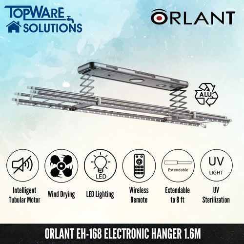 ORLANT EH-168 Electronic Hanger Fully Aluminium, Clothes Hangers, FANSKI - Topware Solutions