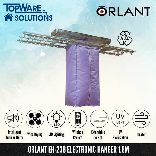 ORLANT EH-238 Electronic Hanger 1.8m Fully Aluminium, Clothes Hangers, FANSKI - Topware Solutions