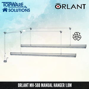 ORLANT MH-588 Manual Hanger Fully Aluminium 1.8m, Clothes Hangers, FANSKI - Topware Solutions