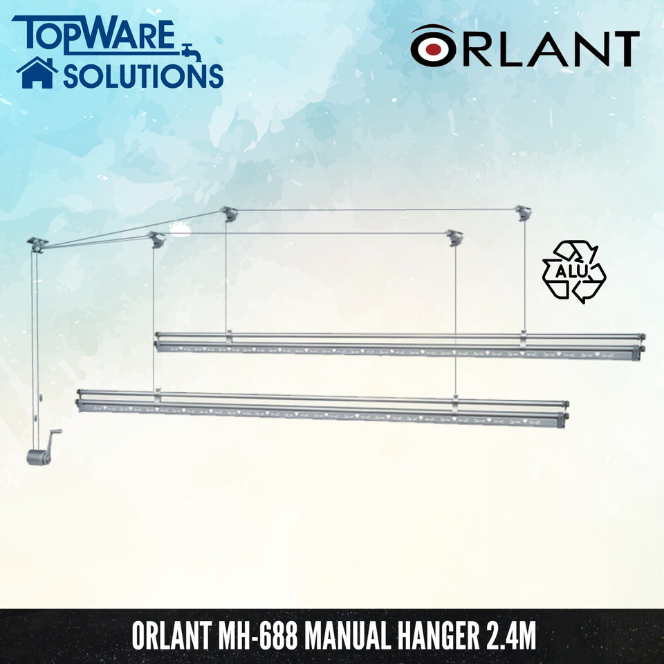 ORLANT MH-688 Manual Hanger Fully Aluminium 2.4m, Clothes Hangers, FANSKI - Topware Solutions