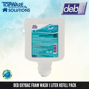 [ Made in Autralia ] DEB Oxybac Foam Hand Soap Refill Pack 1L, Hygiene Solution, DEB - Topware Solutions
