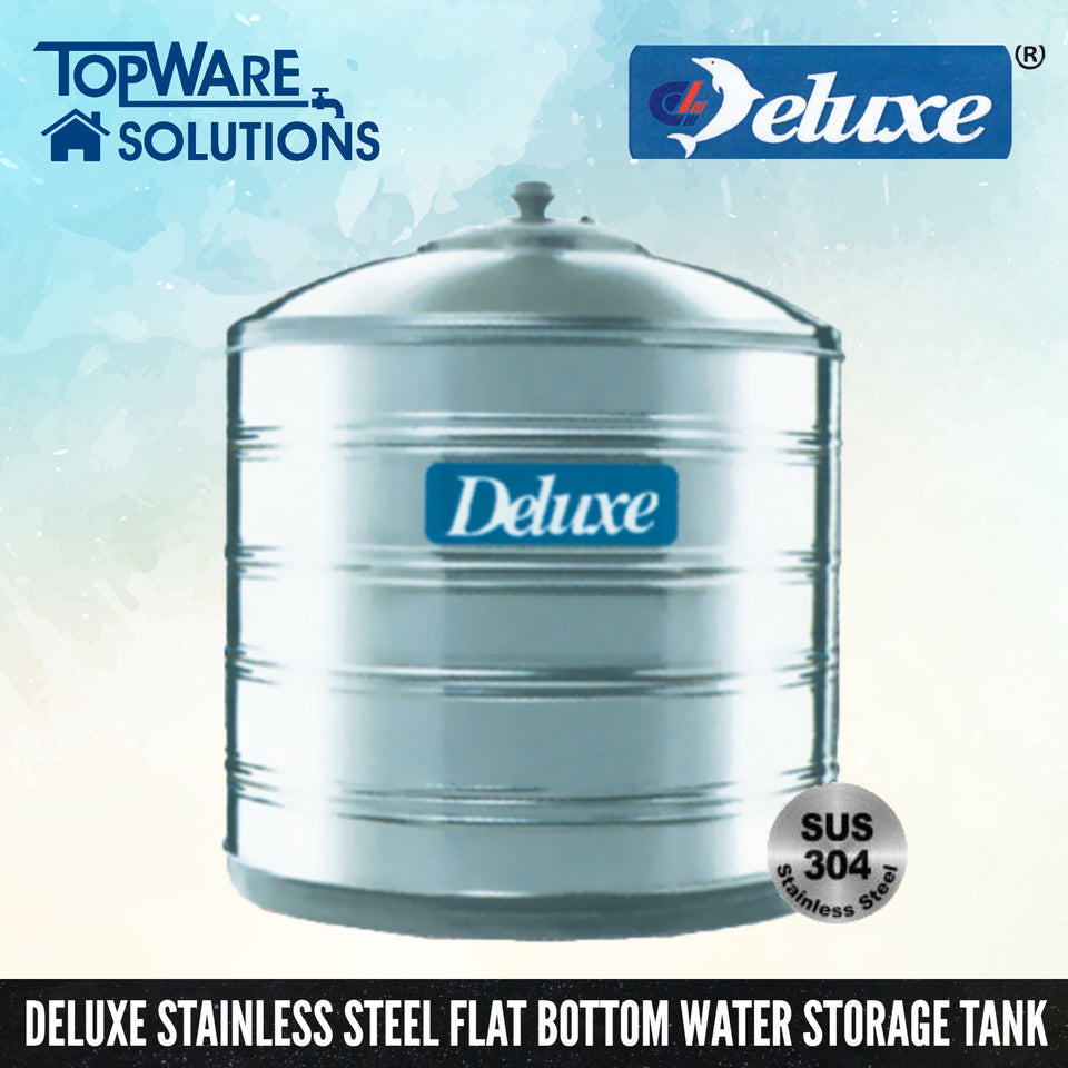 DELUXE Stainless Steel SUS304 Water Tank (Without Stand/Flat Bottom), Water Tank, DELUXE - Topware Solutions