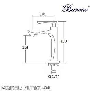 BARENO PLUS Pillar Basin Tap PLT101-09, Bathroom Faucets, BARENO PLUS - Topware Solutions