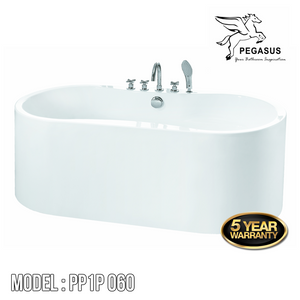 PEGASUS Stand Alone Bathtub PP1P-060, Bathtubs, PEGASUS - Topware Solutions