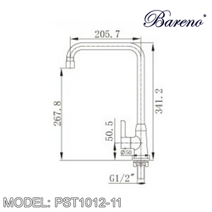 BARENO PLUS Pillar Sink Tap PST1012-11, Kitchen Faucets, BARENO PLUS - Topware Solutions