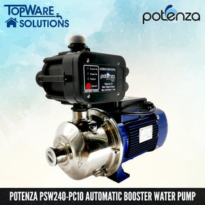 POTENZA PSW2-40/055 + PC10 Water Booster Pump With 2 Year Warranty, Water Pumps, POTENZA - Topware Solutions