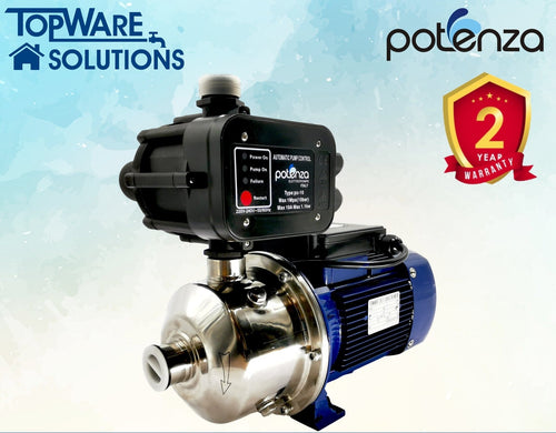 POTENZA PSW2-50/055 + PC10 Water Booster Pump With 2 Year Warranty, Water Pumps, POTENZA - Topware Solutions