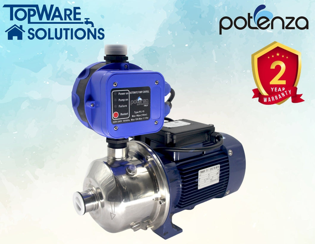 POTENZA PSW2-50/055 + PC19 Water Booster Pump With 2 Year Warranty, Water Pumps, POTENZA - Topware Solutions