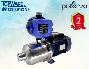 POTENZA PSW4-40/075 + PC19 Water Booster Pump With 2 Year Warranty, Water Pumps, POTENZA - Topware Solutions
