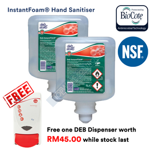 DEB Hand Sanitizer Foam Refill Pack 1L with Free Dispenser, Hygiene Solution, DEB - Topware Solutions