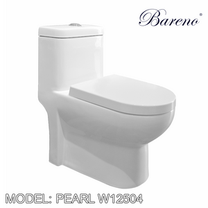 BARENO One Piece Pearl W12504, Bathroom W.Cs, BARENO - Topware Solutions