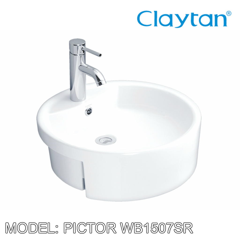 CLAYTAN Pictor Semi Recess Basin WB1507SR, Bathroom Basins, CLAYTAN - Topware Solutions