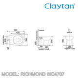 CLAYTAN Richmond Back to Wall Pan WC4707, Bathroom W.Cs, CLAYTAN - Topware Solutions