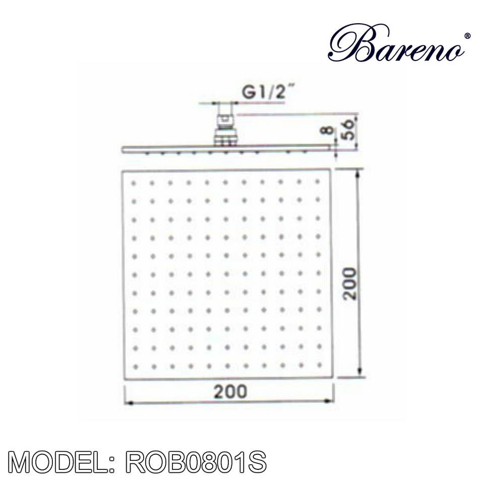 BARENO PLUS Rain Shower ROB0801S, Bathroom Faucets, BARENO PLUS - Topware Solutions