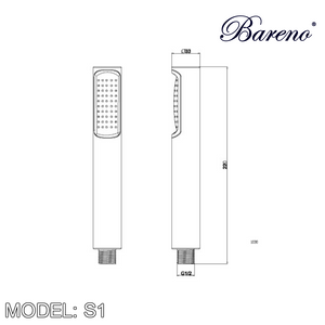 BARENO PLUS Hand Shower S1, Bathroom Faucets, BARENO PLUS - Topware Solutions