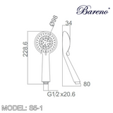 BARENO PLUS Hand Shower S5-1, Bathroom Faucets, BARENO PLUS - Topware Solutions