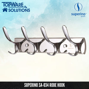 SUPERINO Robe Hook SA-034, Bathroom Accessories, SUPERINO - Topware Solutions