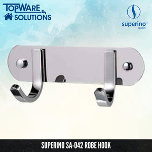 SUPERINO Robe Hook SA-042, Bathroom Accessories, SUPERINO - Topware Solutions
