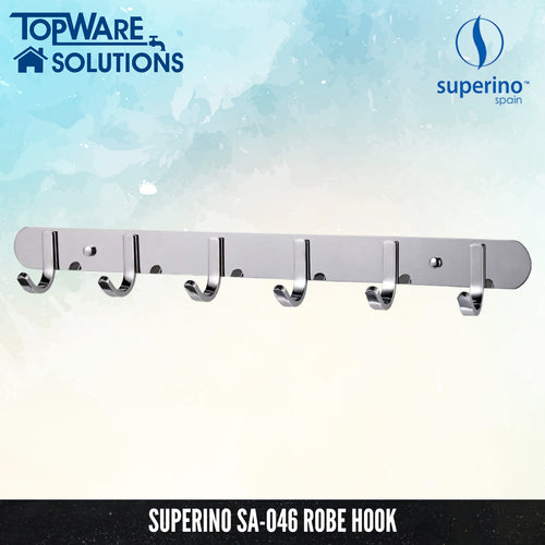 SUPERINO Robe Hook SA-046, Bathroom Accessories, SUPERINO - Topware Solutions