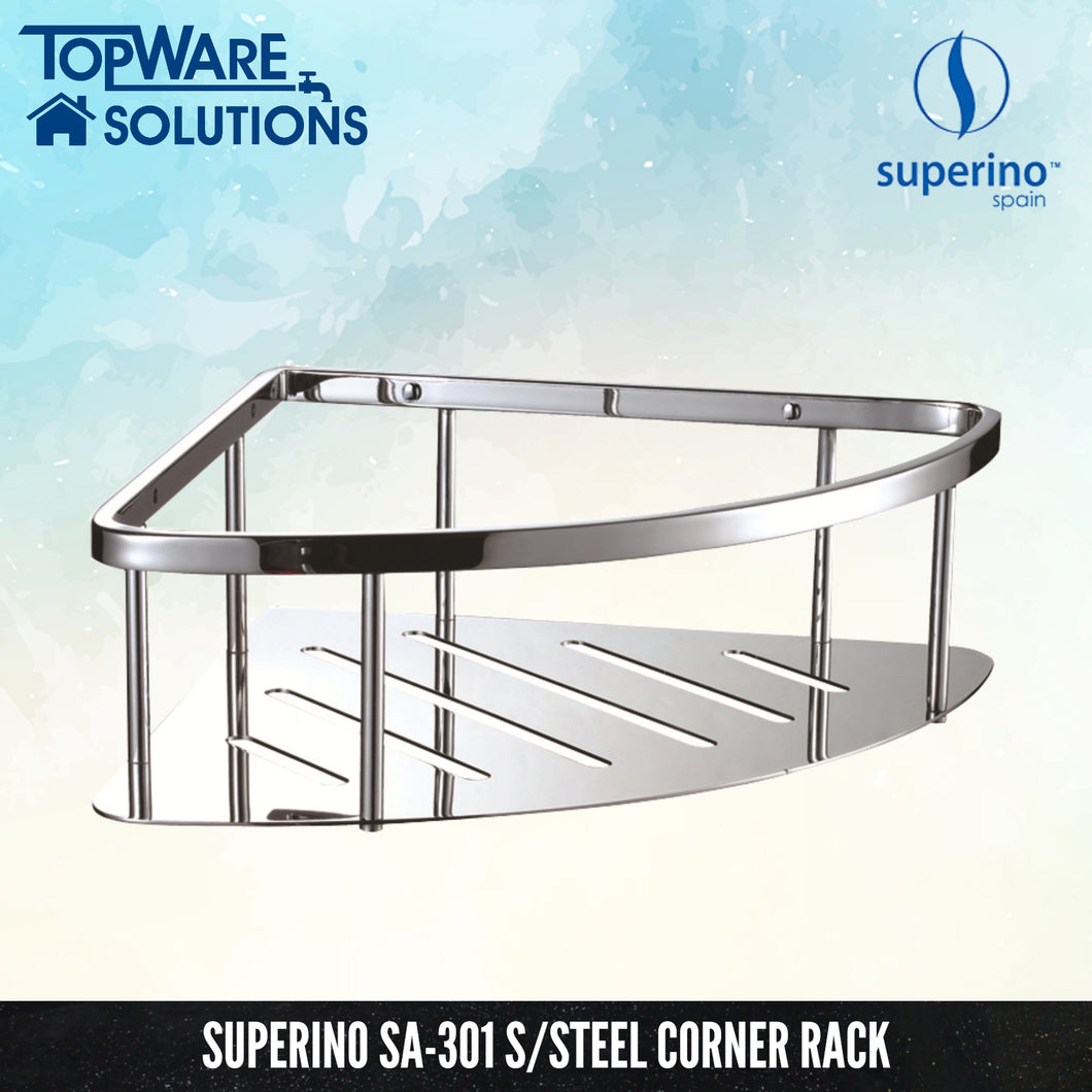 SUPERINO SA-301 Corner Basket / Rack 220mm, Bathroom Accessories, SUPERINO - Topware Solutions