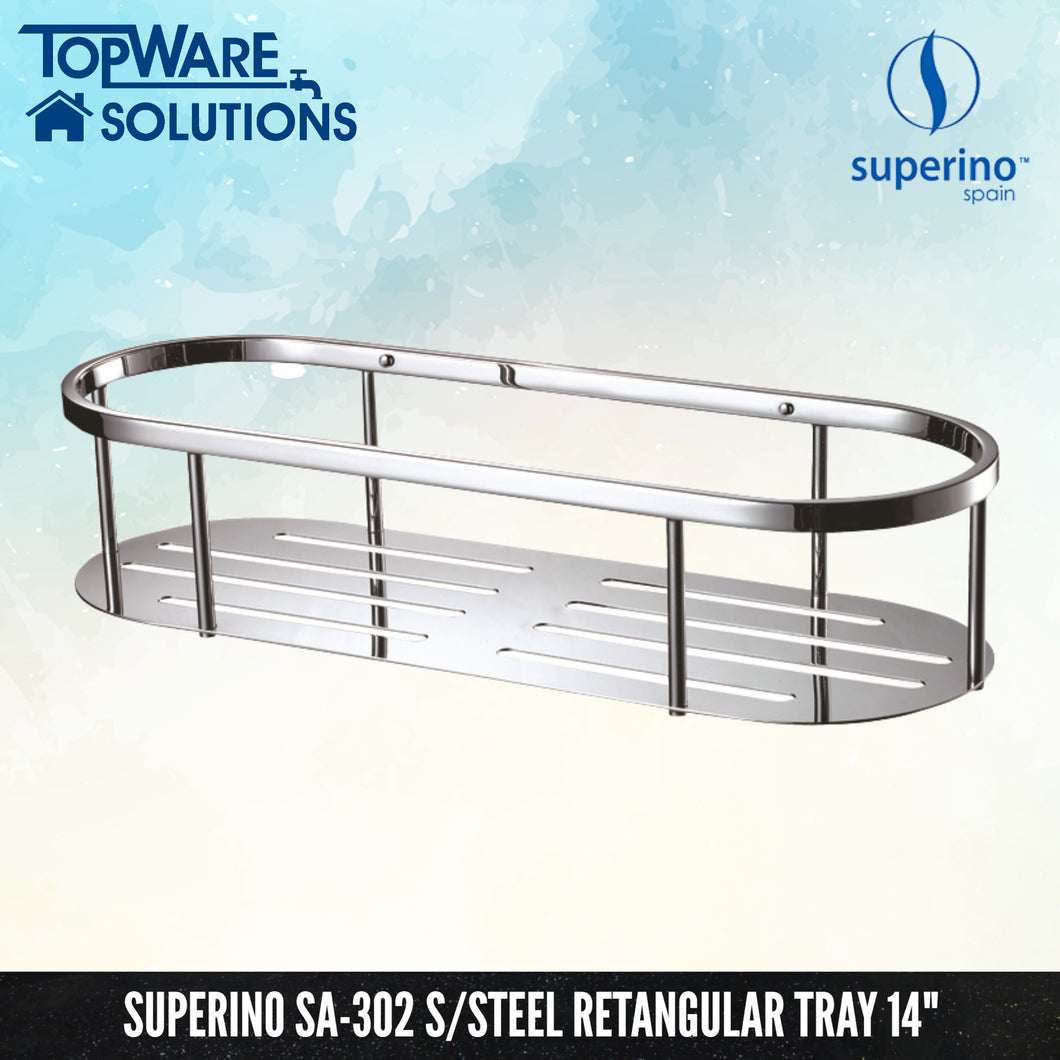 SUPERINO SA-302 Stainless Steel Rectangular Tray 14