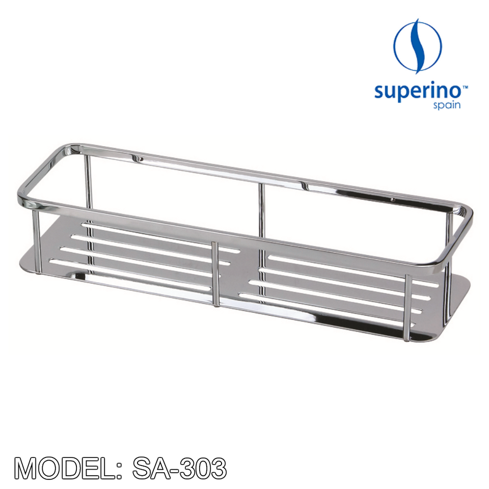 SUPERINO SA-303 Stainless Steel Rectangular Basket 300mm, Bathroom Accessories, SUPERINO - Topware Solutions