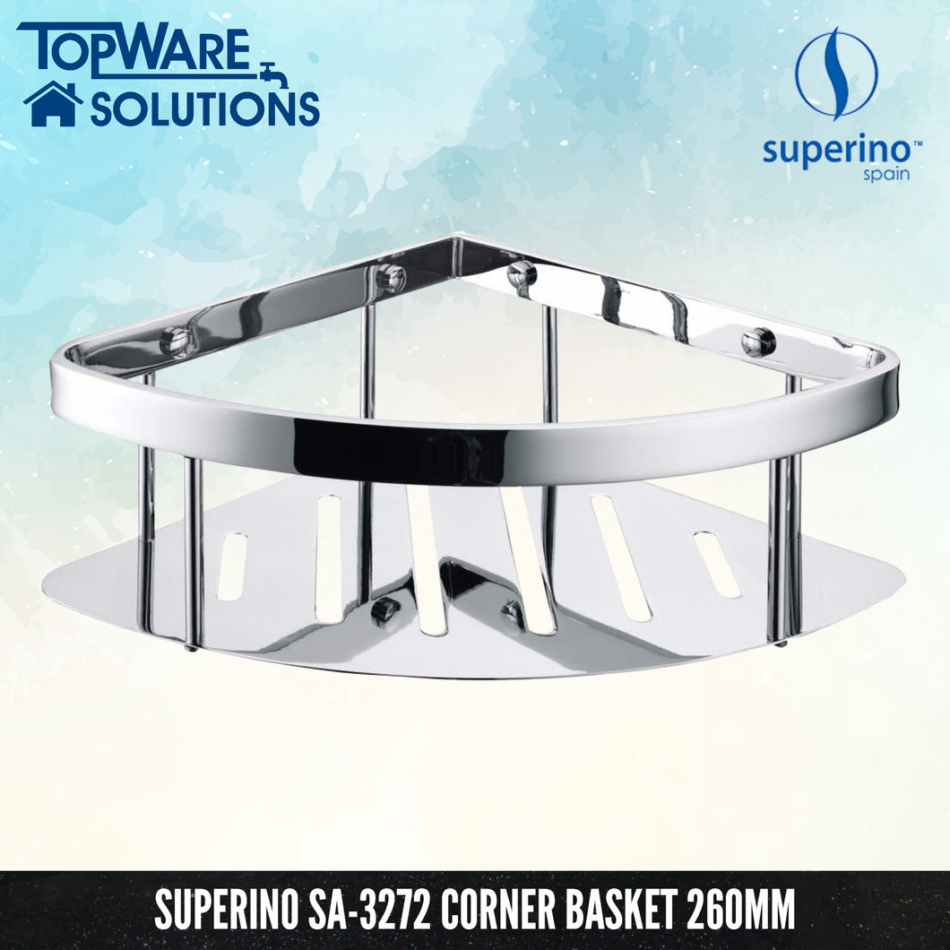 SUPERINO SA-3272 Corner Basket / Rack 260mm, Bathroom Accessories, SUPERINO - Topware Solutions