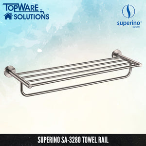 SUPERINO SA-3280 Towel Rail 645mm, Bathroom Accessories, SUPERINO - Topware Solutions
