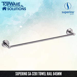 SUPERINO SA-3281 Towel Rail Single 645mm, Bathroom Accessories, SUPERINO - Topware Solutions