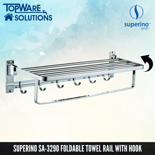 SUPERINO Foldable Towel Bar SA-3290, Bathroom Accessories, SUPERINO - Topware Solutions