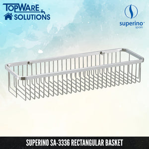 SUPERINO SA-3336 Rectangular Basket / Rack 450mm, Bathroom Accessories, SUPERINO - Topware Solutions