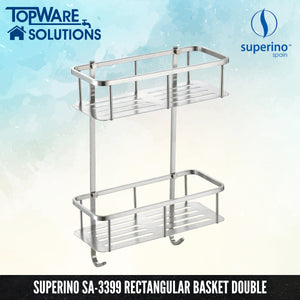 SUPERINO SA-3399 Rectangular Basket / Rack Double, Bathroom Accessories, SUPERINO - Topware Solutions