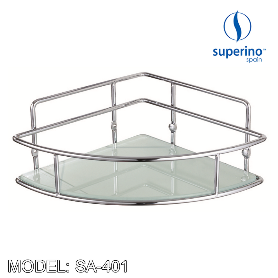 SUPERINO SA-401 Corner Basket / Rack 250mm Stainless Steel, Bathroom Accessories, SUPERINO - Topware Solutions