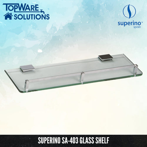 SUPERINO SA-403 Glass Shelf 450mm, Bathroom Accessories, SUPERINO - Topware Solutions