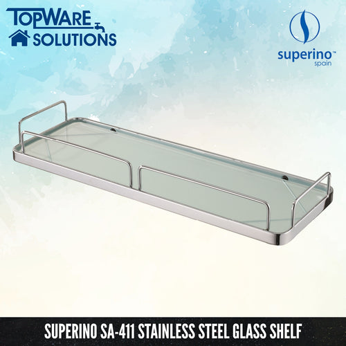 SUPERINO SA-411 Glass Shelf 400mm, Bathroom Accessories, SUPERINO - Topware Solutions