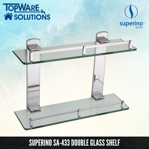 SUPERINO SA-433 Glass Shelf Double Layer, Bathroom Accessories, SUPERINO - Topware Solutions