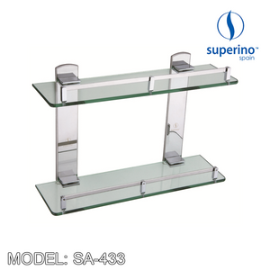 SUPERINO Glass Shelf SA-433 Bathroom Accessories SUPERINO - Topware Solutions