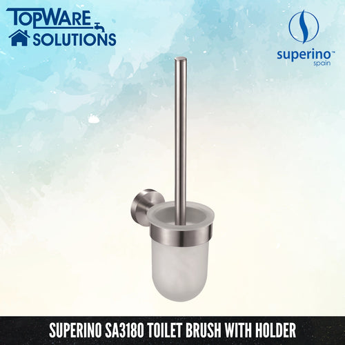 SUPERINO SA3180 Toilet Brush With Holder, Bathroom Accessories, SUPERINO - Topware Solutions