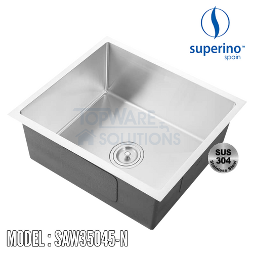 SUPERINO SUS304 Stainless Steel NANO Sink SAW35045-N Kitchen Sinks SUPERINO - Topware Solutions
