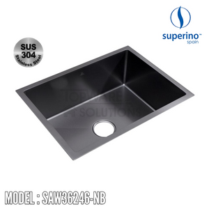 SUPERINO SUS304 Stainless Steel NANO BLACK Sink SAW36246-NB, Kitchen Sinks, SUPERINO - Topware Solutions