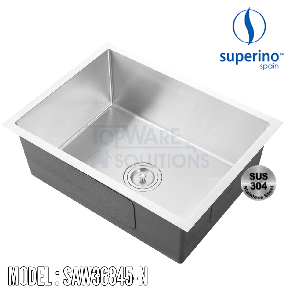 SUPERINO SUS304 Stainless Steel NANO Sink SAW36845-N Kitchen Sinks SUPERINO - Topware Solutions