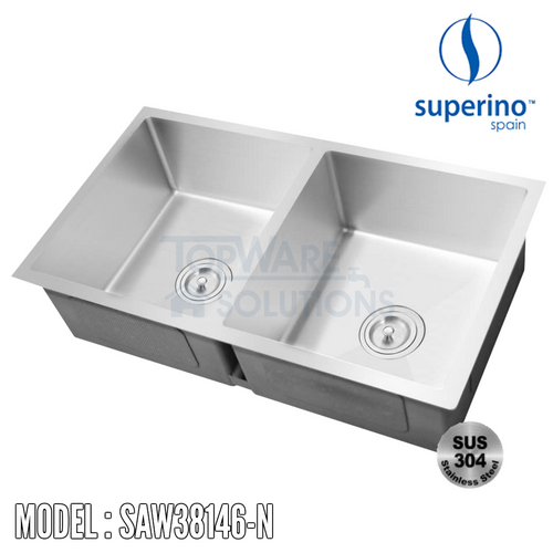 SUPERINO SUS304 Stainless Steel NANO Sink SAW38146-N Kitchen Sinks SUPERINO - Topware Solutions