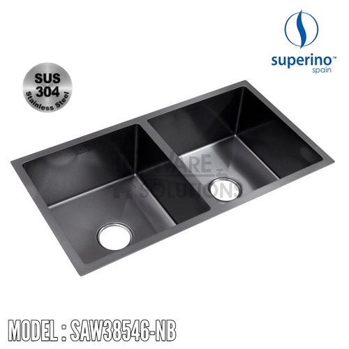 SUPERINO SUS304 Stainless Steel NANO BLACK Sink SAW38546-NB