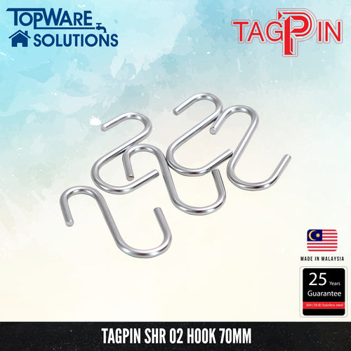 TAGPIN SHR 02 Hooks ( Single Unit ), Bathroom Accessories, Tagpin - Topware Solutions