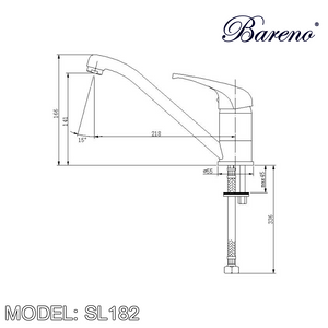 BARENO PLUS Pillar Sink Mixer SL-182, Kitchen Faucets, BARENO PLUS - Topware Solutions