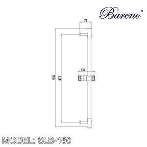 BARENO PLUS Sliding Bar SLB-160, Bathroom Accessories, BARENO PLUS - Topware Solutions